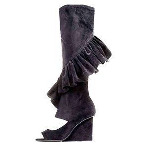 RARE Jeffrey Campbell Hullabaloo Suede Wedge Boots